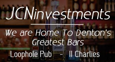 Loophole Pub | 2 Charlies Bar & Grill Denton Texas Logo
